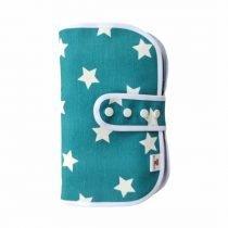 Porta pañales con estuche estrella verde 1