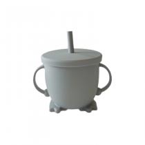 Vaso silicona bombilla gris 1