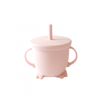 Vaso silicona bombilla rosado 1