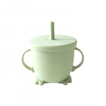Vaso silicona bombilla verde musgo 1